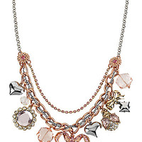 BetseyJohnson.com - BOW CHARM NECKLACE PINK
