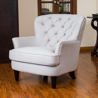 Christopher Knight Home Tafton Tufted Fabric Club Chair