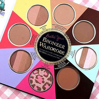 New THE LITTLE BLACK BOOK OF BRONZERS Palette Bronzer Wardrobe Blush Cheek Highlighter Cosmestics Palette Christmas Dropship