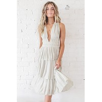 Summer Nights Light Sage Dress