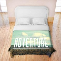 Duvet Cover Premium Woven Twin, Queen, King from DiaNoche Designs by Rachel Burbee Unique, Cool, Fun, Funky, Artistic, Designer, Stylish Home Decor and Bedroom Ideas - Adventure I