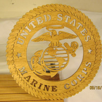 US MARINE CORPS Scroll Saw Plaque - Hobbyist License 31201