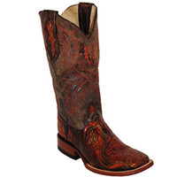 Shop Women's Ferrini Burnt Orange Embossed Cross Cowgirl Boots