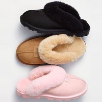 UGG Women Men Slipper Casua Wool Fur Shoes-3