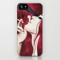 Red smoke iPhone & iPod Case by Juan Rodriguez Cuberes