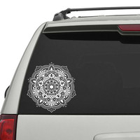 Mandala Car Decal Yoga Vinyl Sticker Decals Decal Car Decor Vinyl Sticker Window Truck Decal Stickers T60
