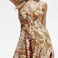 Orsle Summer Leaf Mini Dress