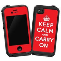 """Keep Calm and Carry On """"Protective Decal Skin"""" for LifeProof iPhone 4/4s Case"""
