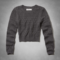 Heather Cropped Sweater