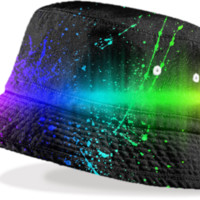 Neon Splash Bucket Hat created by ARTIST CL   Print All Over Me