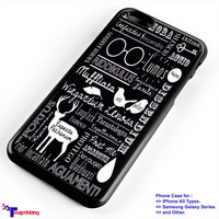 Harry Potters Spells Collage - Personalized iPhone 7 Case, iPhone 6/6S Plus, 5 5S SE, 7S Plus, Samsung Galaxy S5 S6 S7 S8 Case, and Other
