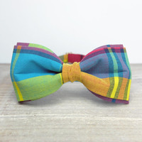 Bow Tie by BartekDesign: pre tied red pink blue rainbow neon colors birthday back to school prooms wedding
