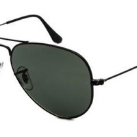 Cheap Polarized Ray Ban Aviator (large), Black Metal w/Green Polarized Lens outlet