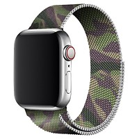 Green Camouflage Milanese Apple Watch Band