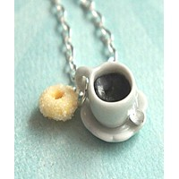 Sugar Donut and Coffee Necklace