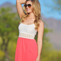 A Walk To Remember Dress - Coral