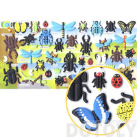 Beetles Dragonflies Butterfly Bug Shaped Insect Themed Puffy Stickers   Cute Scrapbook Decorating Supplies
