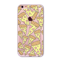 """Ice Cream Donuts Macaron Pattern Transparent Silicone Mobile Phone Protective Case Cover For iPhone 6 6S 4.7"""""""