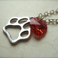 I HEART ED  Ed Sheeran Inspired Paw Print by JetaimeBoutique