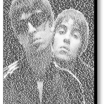 Oasis Wonderwall Song Lyrics Mosaic Print Limited Edition