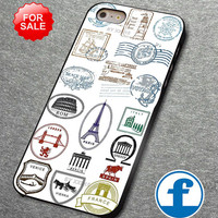 Travel stamps  For iphone, ipod, samsung galaxy, HTC and Nexus PHONE CASE