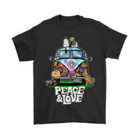 KUYOU Peace And Love Hippie Style Snoopy Shirts
