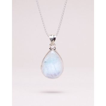 Moonstone Teardrop Pendant Necklace