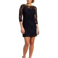 Donna Morgan Women's Lace Dress with Slip