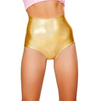 High-Waist Holographic Booty Shorts ( 7 Colors )