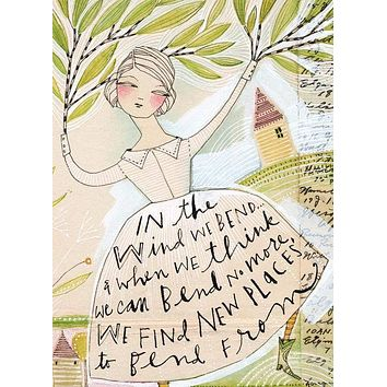 In the Wind We Bend . . . Greeting Card
