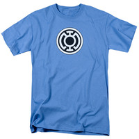 GREEN LANTERN/BLUE LANTERN LOGO - S/S ADULT 18/1 - CAROLINA BLUE -