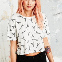 Cooperative Eiffel Tower Tee in White - Urban Outfitters