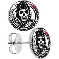Officially Licensed Sons of Anarchy Grim Reaper Stud Earrings