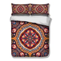 Luxury bedding sets twin full queen king USA AU UK size bedclothes bohemia duvet cover set pillowcase 3pc bed set