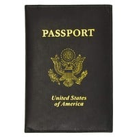New Travel Passport Cover Credit Card Holder Wallet 601 PU USA (C)