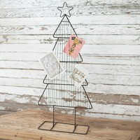 Metal Christmas Card Tree