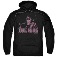Elvis Presley Hoodie The King Black Hoody