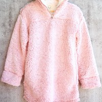 Two Tone Sherpa Pullover 2.0 - Blush