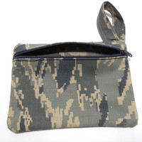 Air Force ABU Cosmetic Bag Coin Purse Gadget Bag Zip Pouch Mini Pad or Tampon Pouch