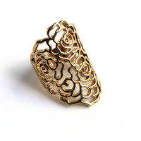 """Rose Garden"" Gold Ring"