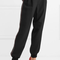 Dolce & Gabbana - Striped stretch-crepe tapered pants