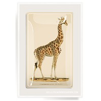 "Giraffe ""Geoffrey"" Decoupage Glass Tray"