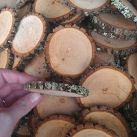 "25 1-2"" Sourwood Tree Log Disc Wood Slices Branch Button Coaster Rustic Wedding Christmas Ornament"