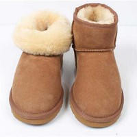 2018 zqzh ug boots women shoes Snow ankle winter Boots australia Boots ugs Women shoes Leather fur rain botas mujer tenis mini