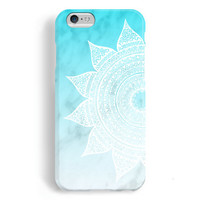 iPhone 6 Case, iPhone 6 Plus Case, iPhone 5S Case, iPhone 5 Case, iPhone 5C Case, iPhone 4S Case, iPhone 4 Case - Mandala Blue Marble