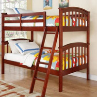 Allen Bunk Beds in a Cherry Finish