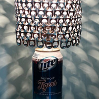 Special Edition Detroit Tigers 2012 League Champions Miller Lite Can Lamp with Pull Tab Shade - For the Tigers Fan With Everything!