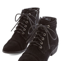 ModCloth Menswear Inspired Charm Beyond Compare Bootie in Black
