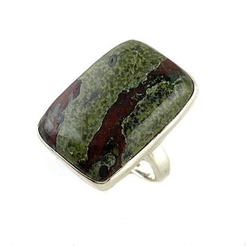 Dragon's Blood Jasper Sterling Silver Ring