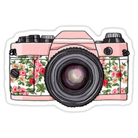 'Floral Camera' Sticker by Mgreenlee15